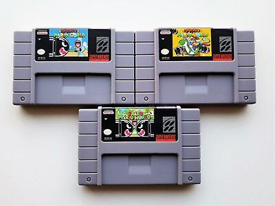 Kaizo Mario World Collection 1 + 2 + 3 (Super Nintendo SNES) Fan Hack USA Seller