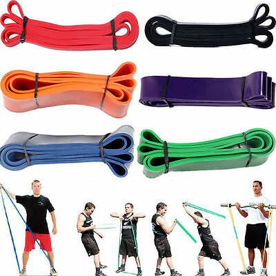 Exercise Loop Resistance Band Fitness Workout Stretch Train Rubber Pull Up UK