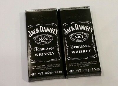 2 x Jack Daniels Tennessee whiskey milk chocolate 100g - Swiss chocolate liquor