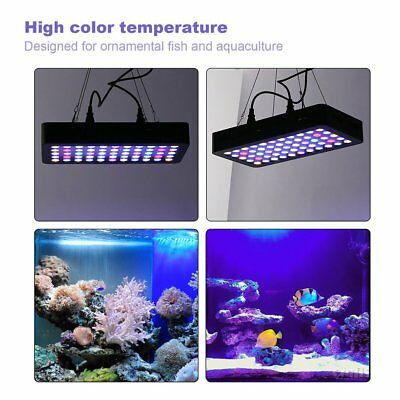 165W 55 LEDs Aquarium Light Dimmable Full Spectrum for Reef Fish Coral Tank MX