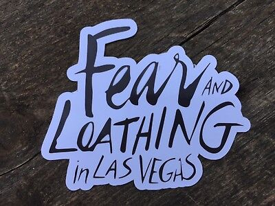 Fear And Loathing In Las Vegas Sticker, Film Sticker.COMBINE P&P ON ALL STICKERS