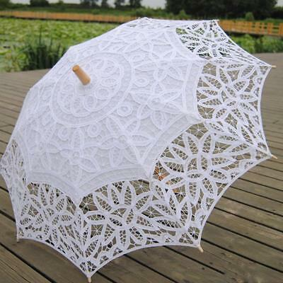 Beauty Lace Embroidered Parasol Umbrella Bridal Wedding Party Decoration