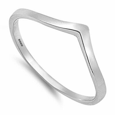 SEMAID 925Sterling Silver Chevron Thumb Ring Wedding Band Women Size L-T