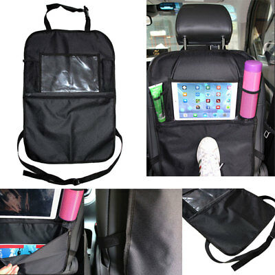 Kids Car Seat Back Storage Bag Organizer Holder Seat Cover Protector Thicken PVC