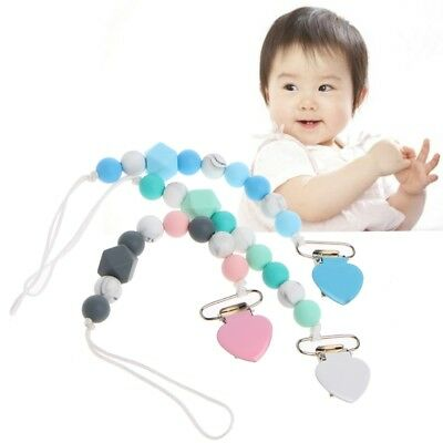 Handmade Dummy Chain Holder Silicone Baby Christmas Gift Teething Pacifiers Clip