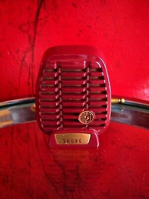 Vintage 1940's RARE Shure 710A crystal microphone deco old used antique