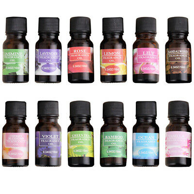 Essential Oils 100% Pure Natural Aromatherapy oils 10ml fragrance aroma /MY