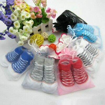 Newborn Warm Baby Girl Boy Anti-slip Sock Shoes Infant Cotton Socks 0-12 Months