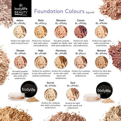 Bodylife Beauty Makeup Natural Mineral Foundation Face Powder 5g
