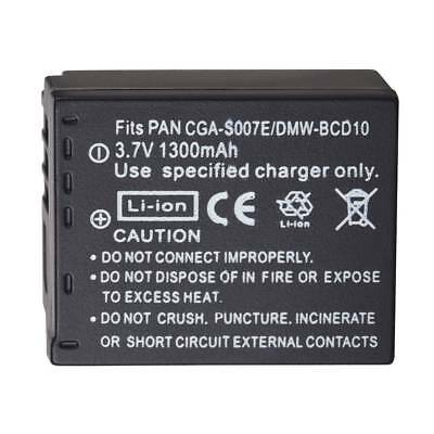 3.7V CGA-S007 Battery For Panasonic DMC TZ1 TZ2 TZ3 TZ4 TZ5 TZ50 TZ15 Camera