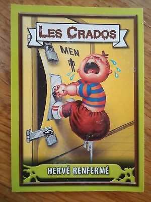 Image * Les CRADOS 3 N°160 * 2004 album card Sticker FRANCE Garbage Pail Kid