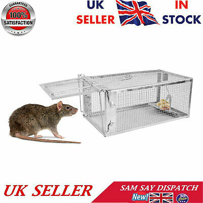 1 X Rat Catcher Spring Cage Trap Humane Large Animal Rodent Indoor Outdoor UK