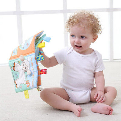 Kids Animal Cloth Book Baby Bed Cognize Book Intelligence Educating Toy Gifts
