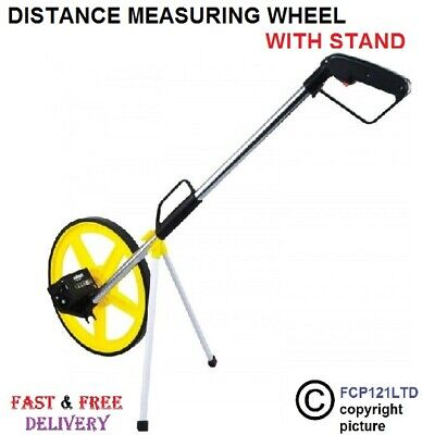 Stand Foldable Distance Measuring Wheel with Bag Surveyors Builders Road Land