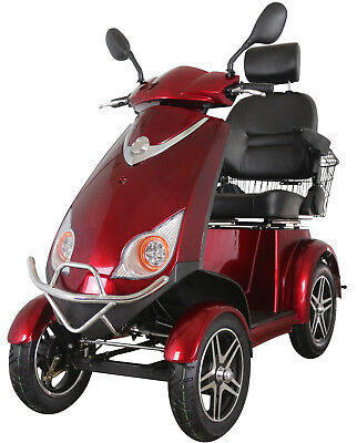 Red 4 Wheeled 600W Electric Mobility Scooter FREE Delivery -Green Power