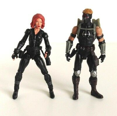 "Marvel Universe Action Figure 3.75"" Black Widow Set Black Widow And Hawkeye"