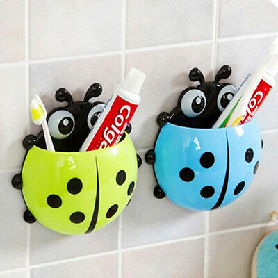 Ladybug Toothbrush Holder Suction Toothpaste Wall Sucker Bathroom Sets Opulent