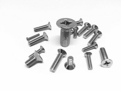 M2 M3 M4 M5 Machine Screw Countersunk Head Phillip Stainless Steel 304 Metric
