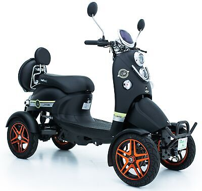 New 4 Wheeled Black Electric Mobility Scooter Eco 60V 100AH 600W Green Power