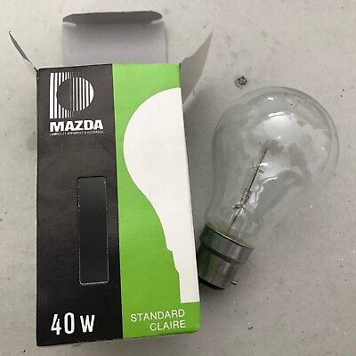Ampoule standard claire MAZDA 40W 24V B22 basse tension NEUF
