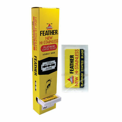 Feather New Hi-Stainless Platinum Coated Blades (10 in Pack) QTY 2,5,10,20 Packs