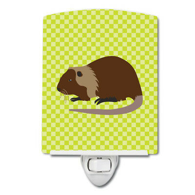 Carolines Treasures  BB7705CNL Coypu Nutria River Rat Green Ceramic Night Light