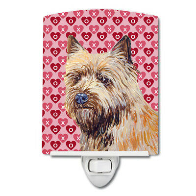 Cairn Terrier Hearts Love and Valentine's Day Portrait Ceramic Night Light