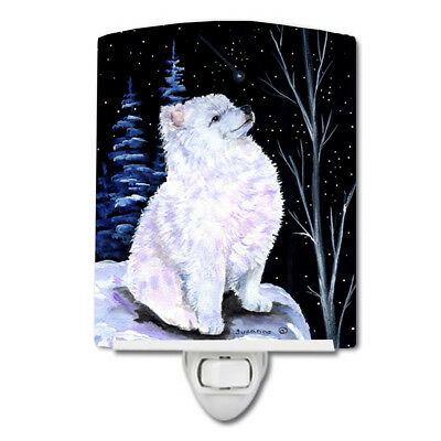 Carolines Treasures  SS8389CNL Starry Night American Eskimo Ceramic Night Light