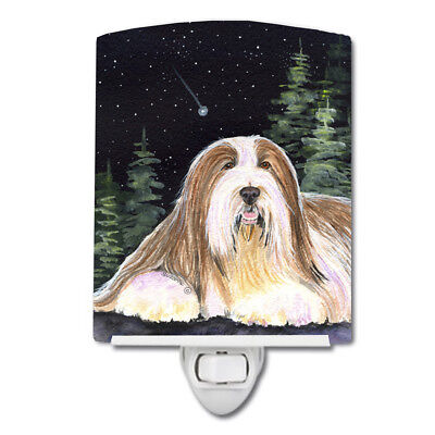 Carolines Treasures  SS8529CNL Starry Night Bearded Collie Ceramic Night Light