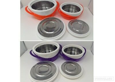 Set of Thermal Insulated Hot Food Containers Stew Casserole Dish Lunch 1.2L 2.5L