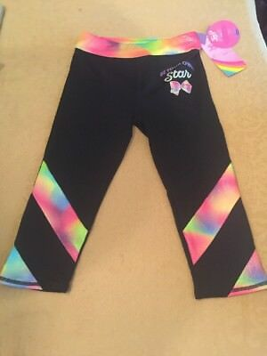 JOJO SIWA Girls' Jojo Capri Leggings - Freestyle by Danskin Black MEDIUM 7/8 NEW