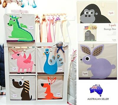 NEW 3Sprouts Baby Kid Animal Toy Storage Cube Shelf Box Nursery Decor