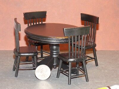 Dollhouse Miniature Kitchen Table & Chairs Set 1:12 scale N80 Dollys Gallery