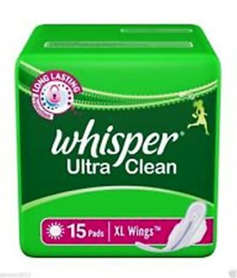 Whisper Ultra Clean 15 Pads-XL Wings Sanitary Pad Sanitary Napkins Feminine