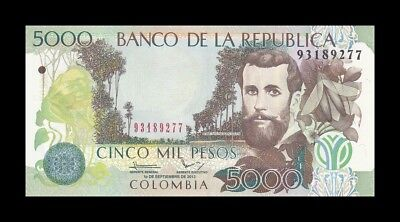 COLOMBIA 5000 PESOS 2013. PICK 452. SC. UNC (Uncirculated)