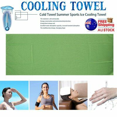 Cold Towel Summer SportIce Cooling Towel Hypothermia Cool Towel 90*35CM GH C@FE