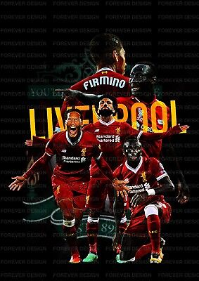 Liverpool FC A3 Players poster 2018 - 2019