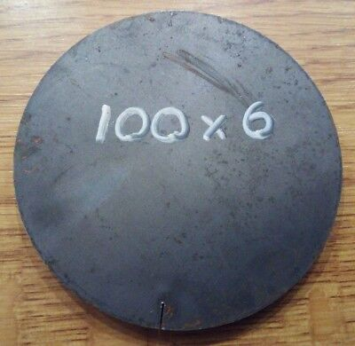 100 x 6mm Thick Mild Steel Disc