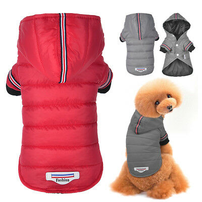 Small Dog Winter Coat Chihuahua Clothes Pet Puppy Cat Jacket Hoodie Outfit XS-XL