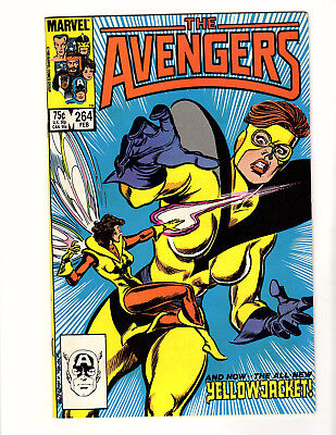 The Avengers #264 (1986, Marvel) VF- 1st App Yellowjacket (Rita DeMara)! Wasp