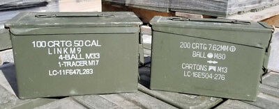 M19A1 and M2A1 Ammo Cans 2-Pack – Military Steel  Ammo Can Storage