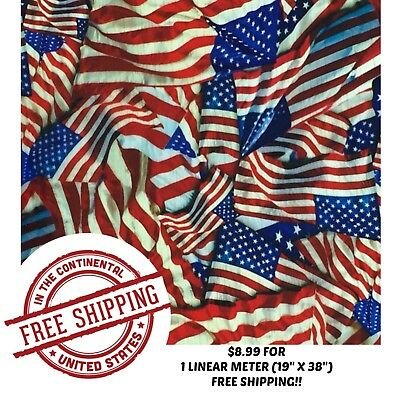 "Hydrographic Water Transfer Hydro Dip Film American Flag 3 1M (19""x38"")"