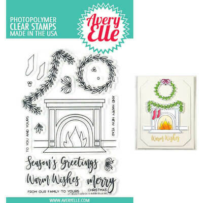 Avery Elle Clear Stamp Christmas Holidays Peaceful Pines AE1828