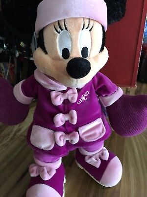 Disney Minnie Mouse Winter Wardrobe Bean Plush Stuffed Animal Pink/Purple