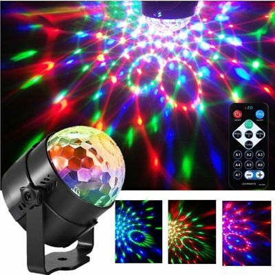 3W Disco Lights Xmas DJ Party Ball Projector Stage Crystal Lamp 7 Modes Patterns