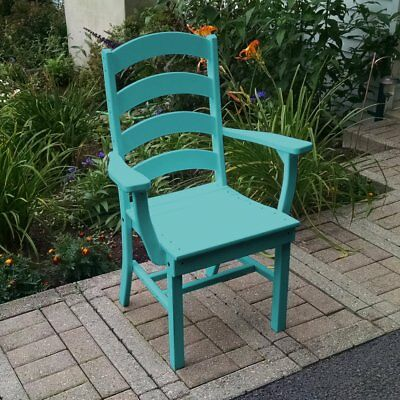 A & L Furniture Poly Ladderback Outdoor Dining Arm Chair