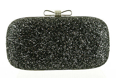 d70a875f466 INC International Concepts Evie Clutch / Handbag $60, Black / Silver Glitter