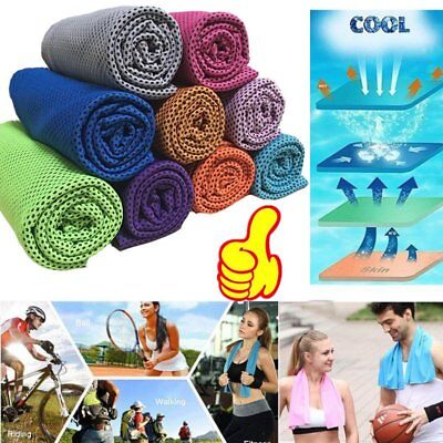 Cold Towel Summer Sports Ice Cooling Towel Hypothermia Cool Towel 90*35CM e