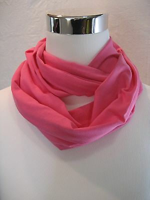 Baby TODDLER girl's childs kids solid Pink jersey knit Infinity Scarf PHOTO PROP