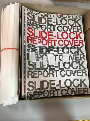 "Sliding Bar Clear Report Covers, Pack of 50 New 11""'x18.5"" slide-lock"